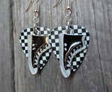 Black Converse Sneaker Charms Guitar Pick Earrings - Pick Your Color