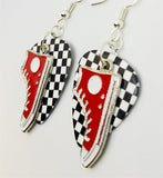 Red Converse Sneaker Charms Guitar Pick Earrings - Pick Your Color
