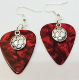 Soccer Ball Charm Guitar Pick Earrings - Pick Your Color