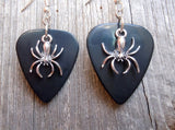 Spider Charm Guitar Pick Earrings - Pick Your Color