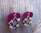 Sports Star Charm Guitar Pick Earrings - Pick Your Color