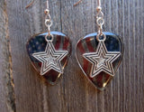 Star Charm Guitar Pick Earrings - Pick Your Color