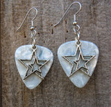 Double Star Charm Guitar Pick Earrings - Pick Your Color