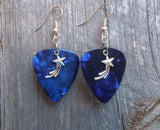 Shooting Star Charm Guitar Pick Earrings - Pick Your Color