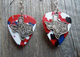 State of Texas Charm Guitar Pick Earrings - Pick Your Color
