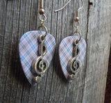 Clef Charm Guitar Pick Earrings - Pick Your Color