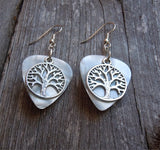 Tree of Life Charm Guitar Pick Earrings - Pick Your Color