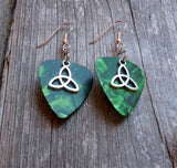 Triquetra Charm Guitar Pick Earrings - Pick Your Color