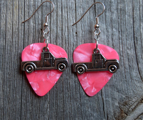 Truck Charm Guitar Pick Earrings - Pick Your Color