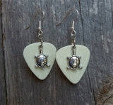 Tiny Turtle Charm Guitar Pick Earrings - Pick Your Color