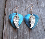 Wings and Roses Guitar Pick Earrings - Pick Your Color