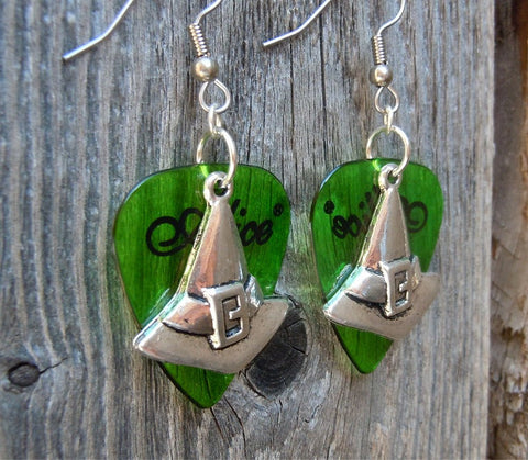 Witch Hat Guitar Pick Earrings - Pick Your Color