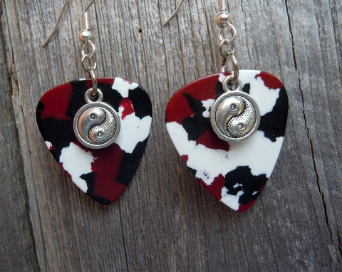 Yin Yang Charm Guitar Pick Earrings - Pick Your Color