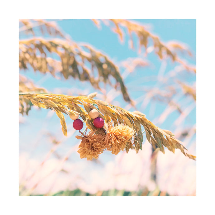 Raffia Earrings Inspired by the Beach Grass at Sullivan's Island Beach
