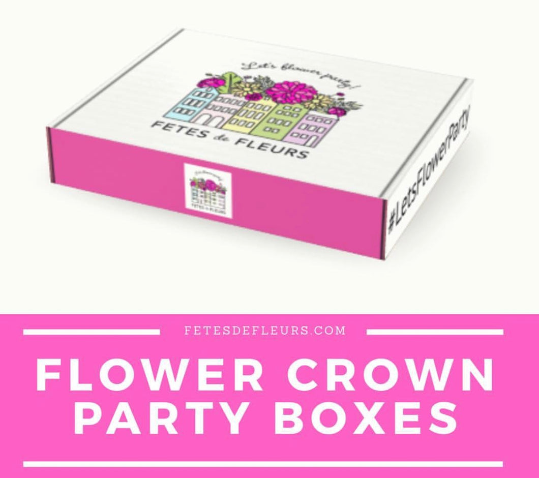 Flower Crown Party Box