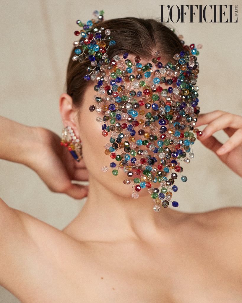 Jolita Jewellery's Leila earrings made with crystals