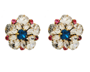 Colette earrings clear crystals