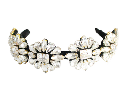 Eden crystal flowers headband