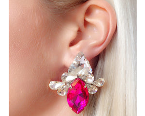 Leila Earrings Fuchsia Pink