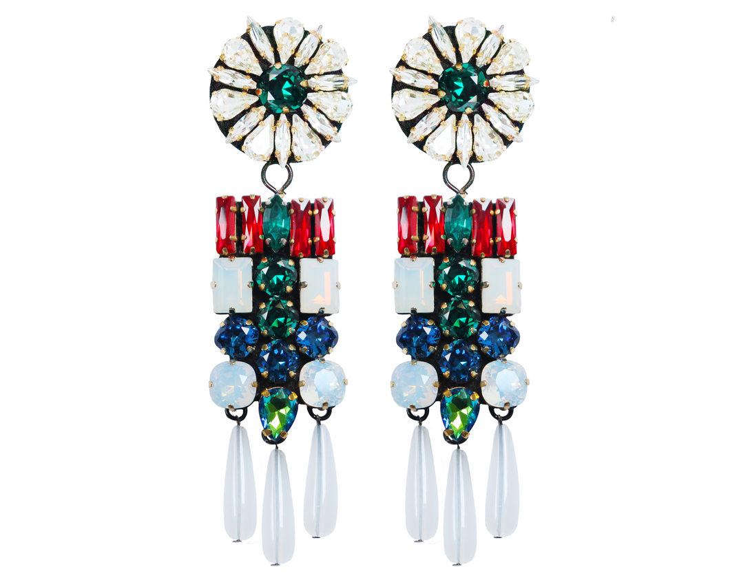 Octavia earrings red