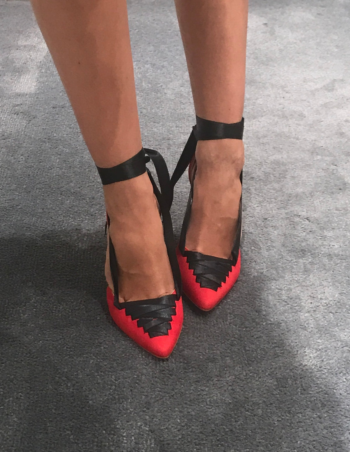 Lola Domecq Red summer shoes