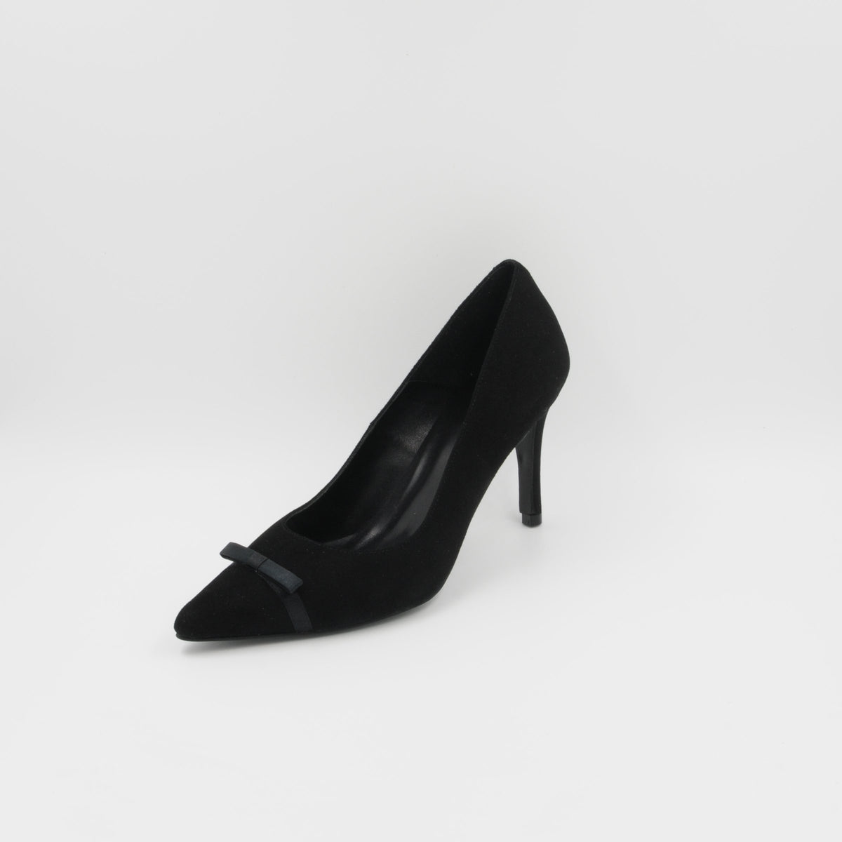 Lola Domecq Priscila In Black Hand made suede pump heels