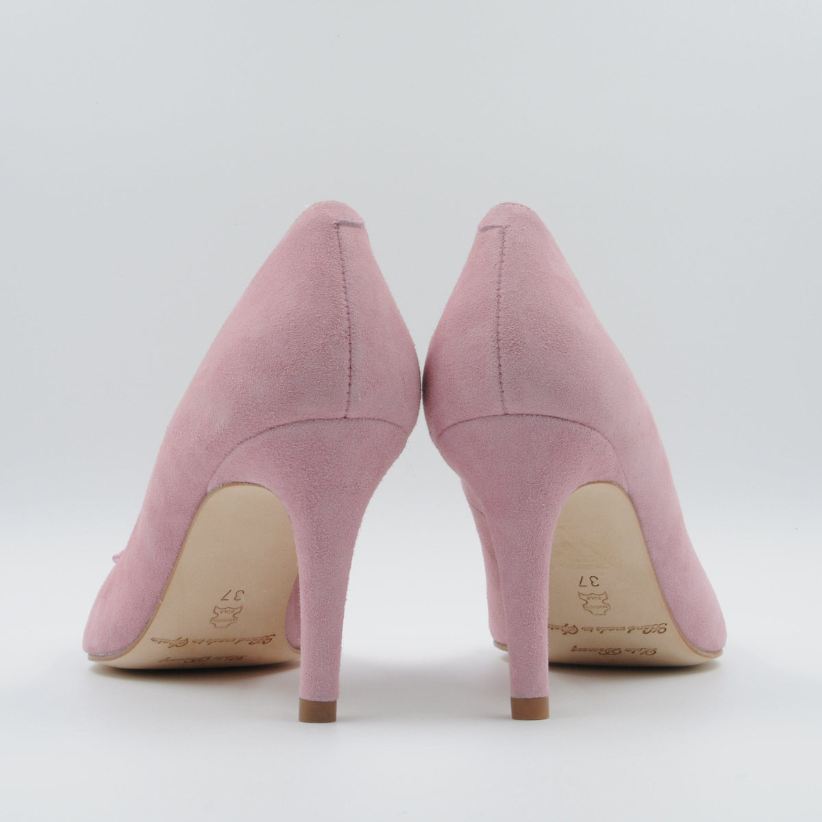 Lola Domecq LD Priscila In Pink Handcrafted suede high heels