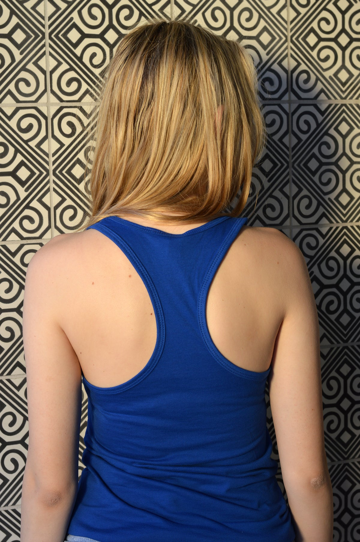 Phlipseyed Balance Women's Racer Back Tank / Royal Blue