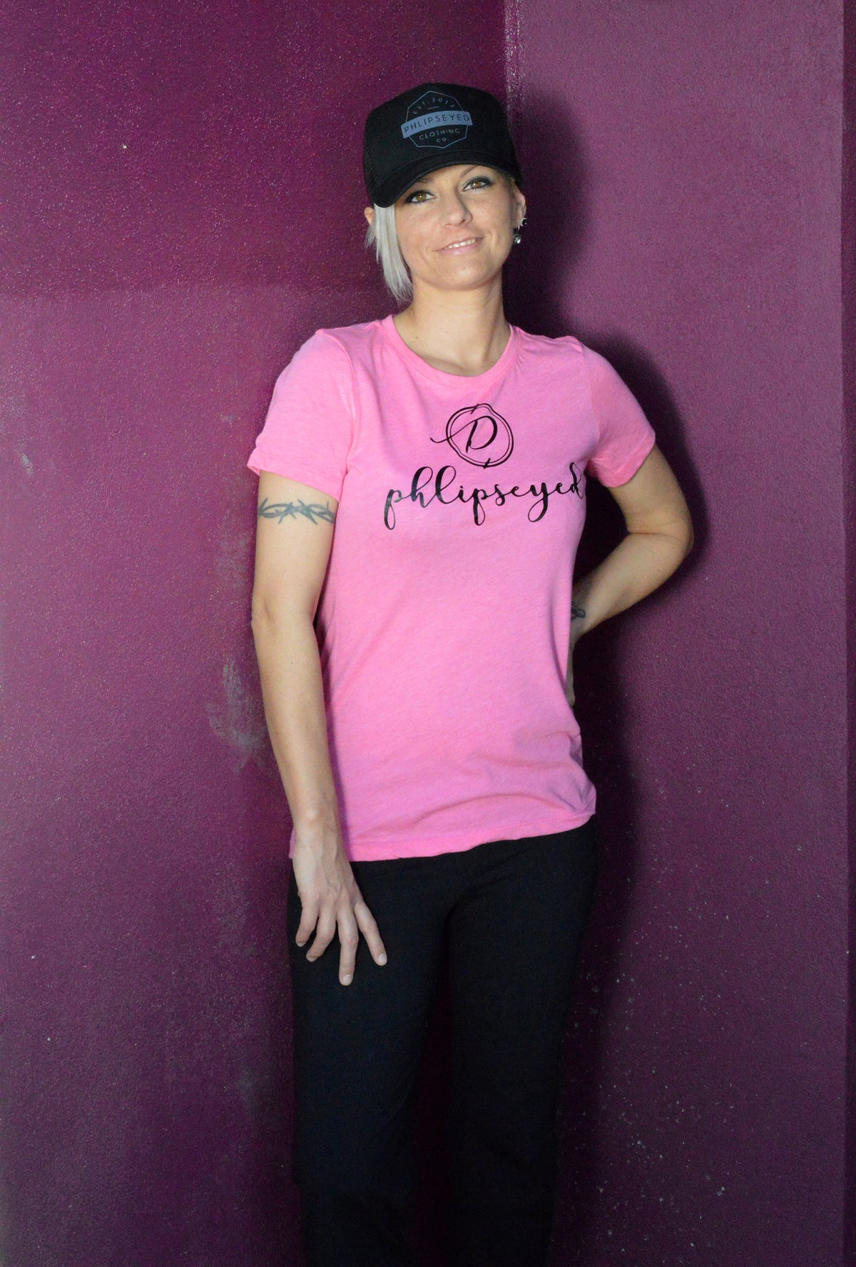 Phlipseyed Sequence Women's Tri-blend Tee / Vintage Pink
