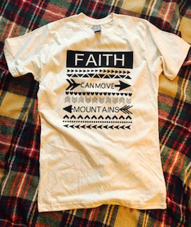 4b610b740c72 Faith can move mountains custom bella canvas tshirt. Fair isle like t-shirt.