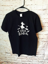 Basic Witch unisex fit tshirt. softstyle. halloween shirt. - Mavictoria Designs Hot Press Express