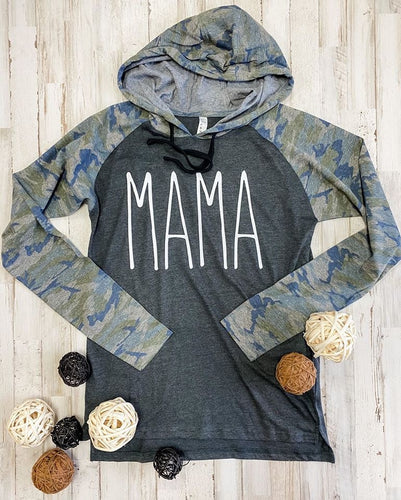 Mama camouflage lightweight hoodie - Mavictoria Designs Hot Press Express