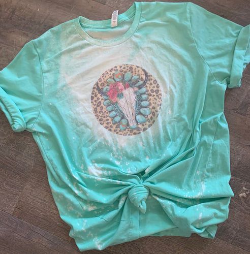 Bleached Tee Adult rated colorful. Cannibis with quote Not Today explicit