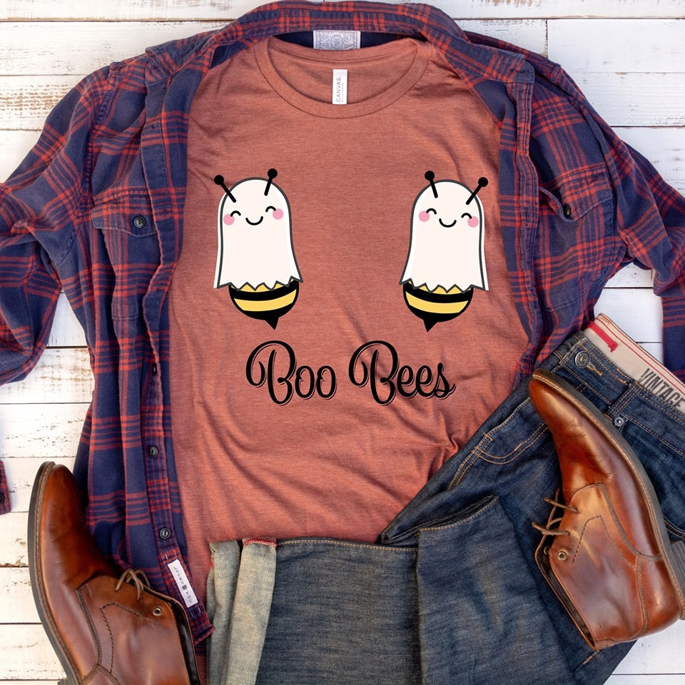 Boo bees graphic tee - Mavictoria Designs Hot Press Express
