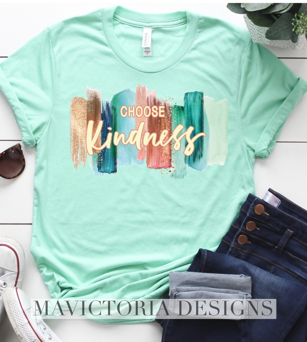 Choose kindness watercolor tank tee crew or hoodie - Mavictoria Designs Hot Press Express