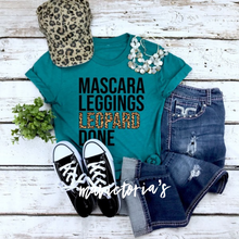 Load image into Gallery viewer, Mascara leggings leopard done graphic tee - Mavictoria Designs Hot Press Express