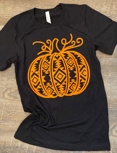 Orange Aztec Pumpkin. Graphic Tee - Mavictoria Designs Hot Press Express