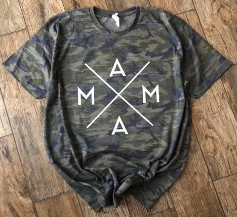 Mama. camo graphic tee - Mavictoria Designs Hot Press Express