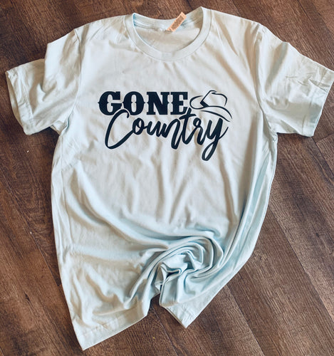 Gone country graphic tee long sleeve crew or hoodie - Mavictoria Designs Hot Press Express