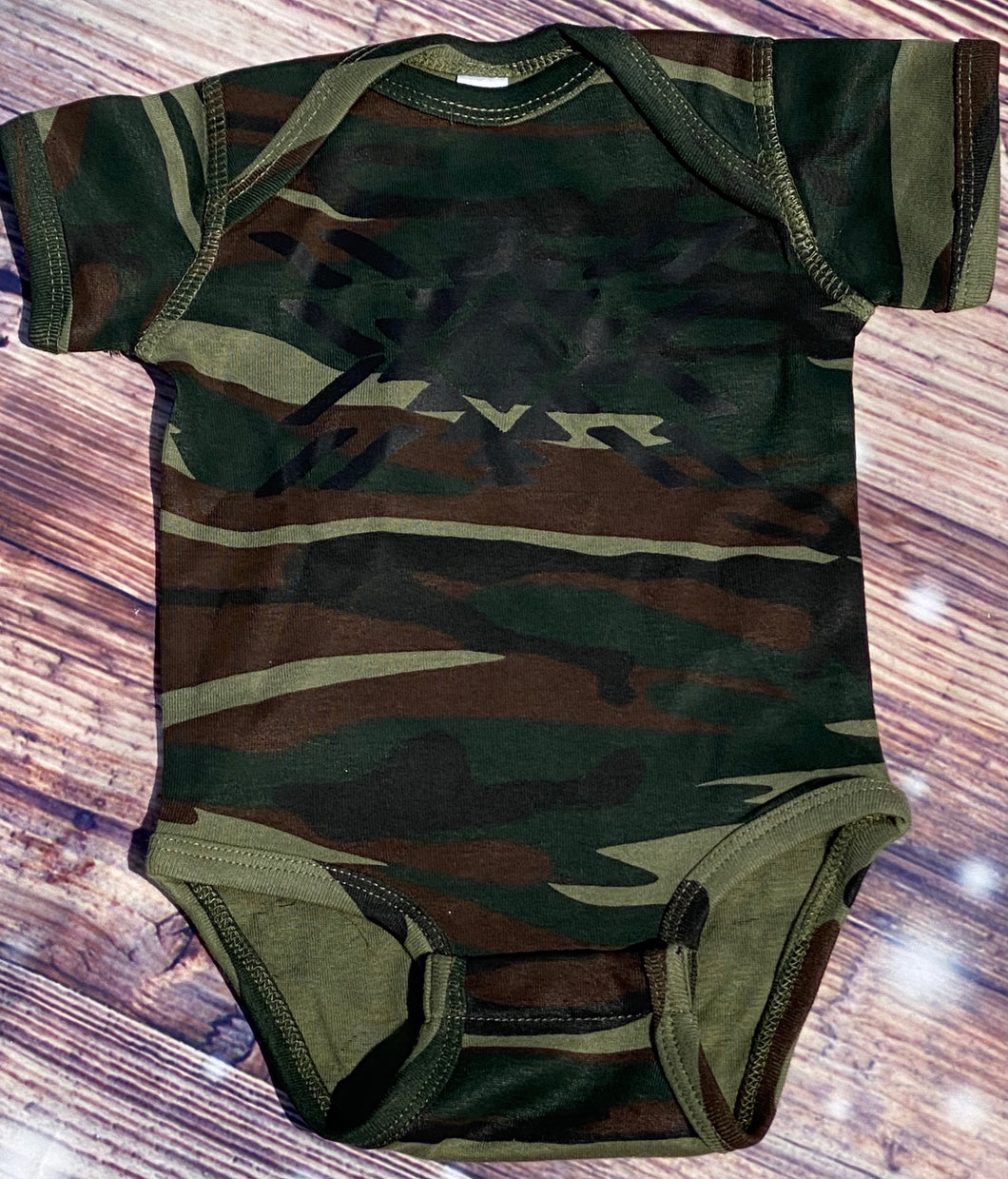 KIDS Camo Aztec graphic onesie or tee - Mavictoria Designs Hot Press Express
