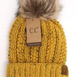 Fuzzy Lined Flecked Fur Pom CC Beanie - Mavictoria Designs Hot Press Express