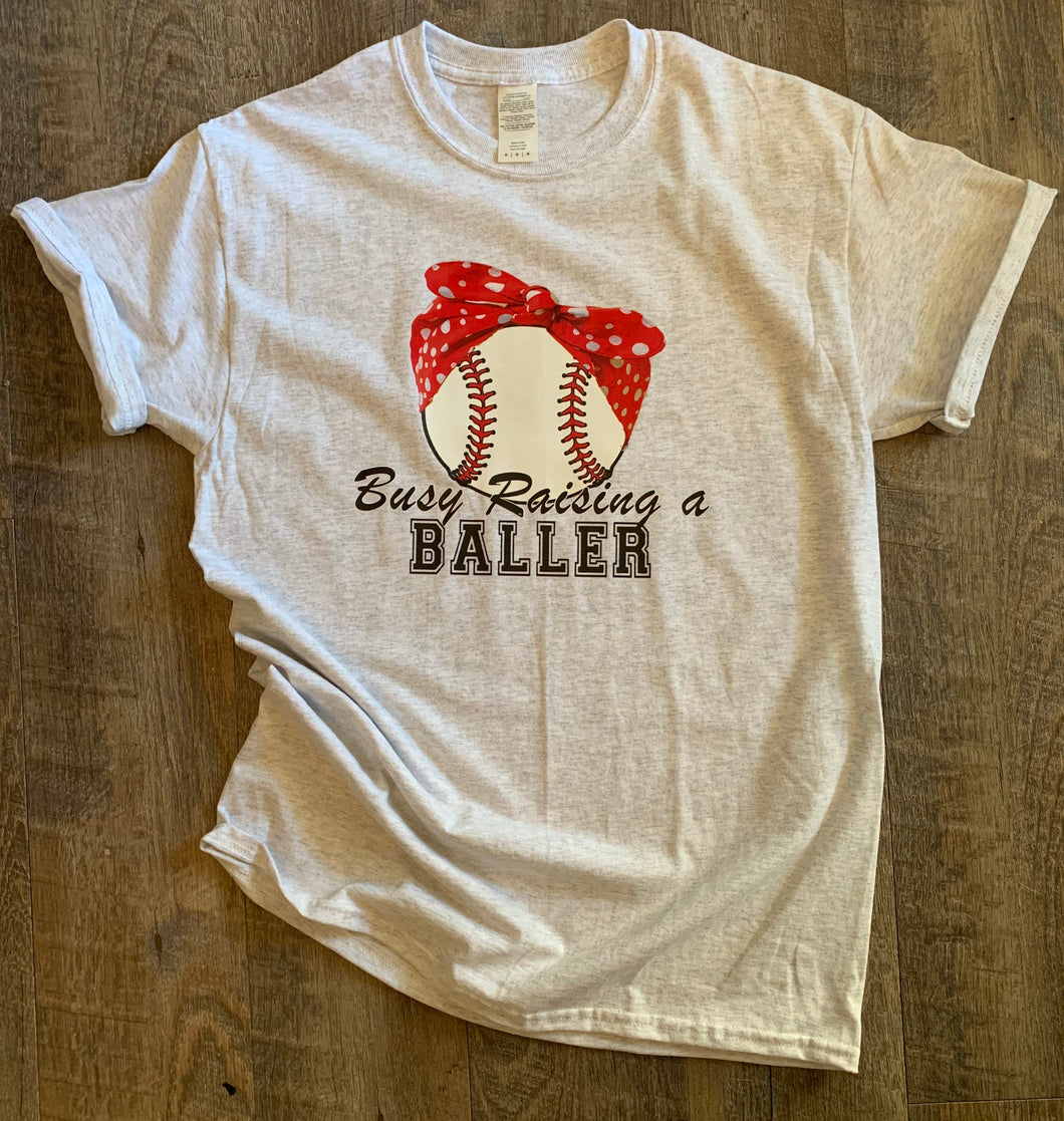 Busy raising a baller // baseball bandana // boy mom - Mavictoria Designs Hot Press Express