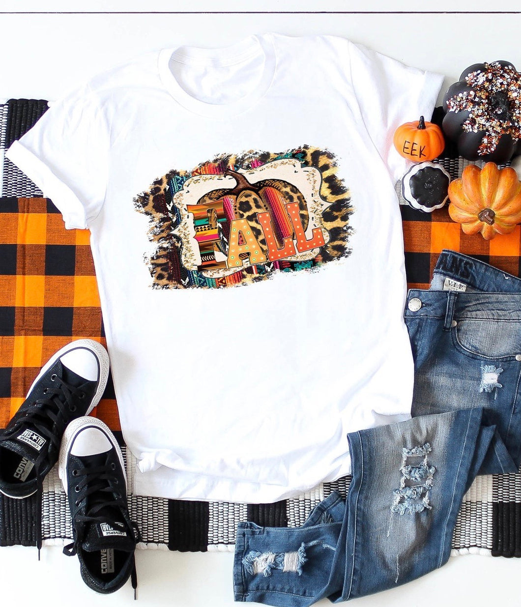 Fall pumpkin graphic tee - Mavictoria Designs Hot Press Express