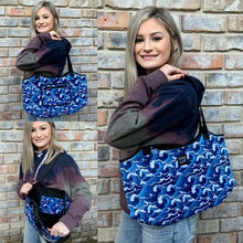 Load image into Gallery viewer, Lit Totes. Neoprene. Beach. Diaper Bag. Overnight Bag. Cooler. Sports. Anywhere Tote. - Mavictoria Designs Hot Press Express