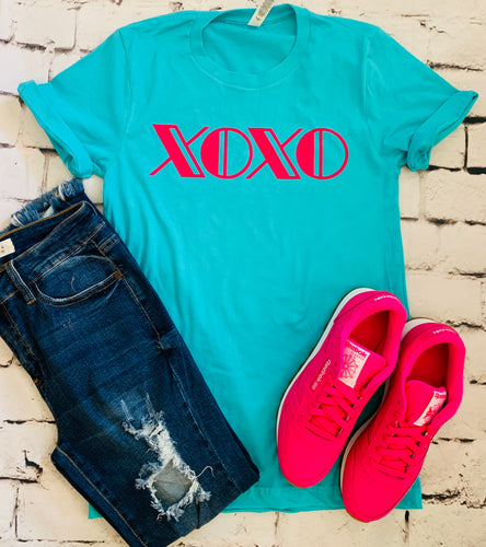 Xoxo valentines tank tee crew or hoodie - Mavictoria Designs Hot Press Express