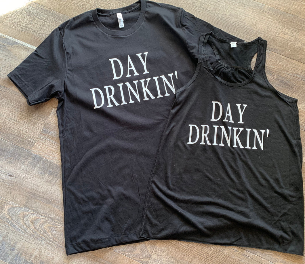 Day drinkin' party shirts. Custom graphic tee or tank. - Mavictoria Designs Hot Press Express
