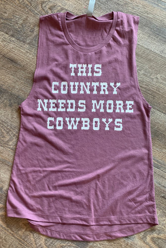 This country needs more cowboys graphic tee long sleeve crew or hoodie - Mavictoria Designs Hot Press Express