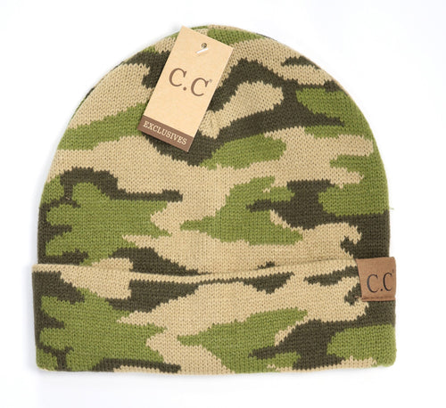 Camouflage CC Beanie - Mavictoria Designs Hot Press Express