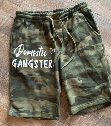 Domestic gangster funny camo camouflage joggers sweatpants unisex fit - Mavictoria Designs Hot Press Express