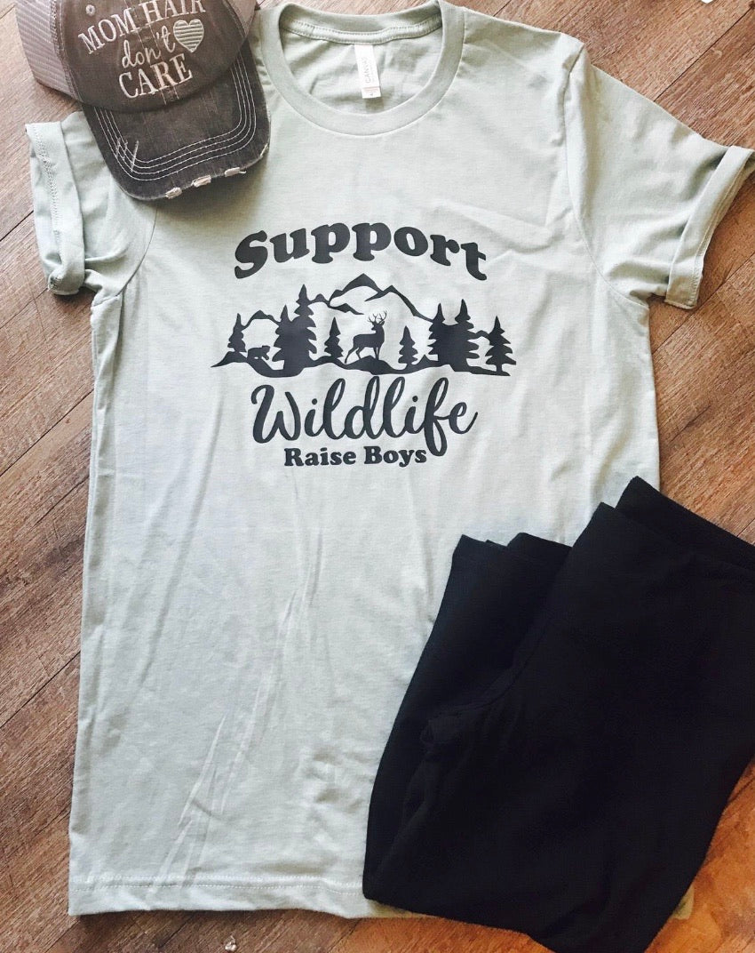 Support Wildlife Raise Boys - Mavictoria Designs Hot Press Express